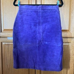 Vintage Real Leather Pencil Skirt